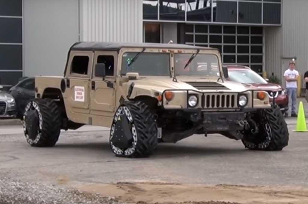 Teknologi Ban Mobil Militer AS ini Bisa Berubah Bentuk