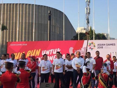 Warga Mulai Terjangkit Demam Asian Games
