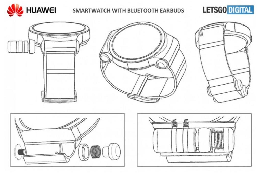 Huawei Patenkan Smartwatch dengan Earbud Bluetooth