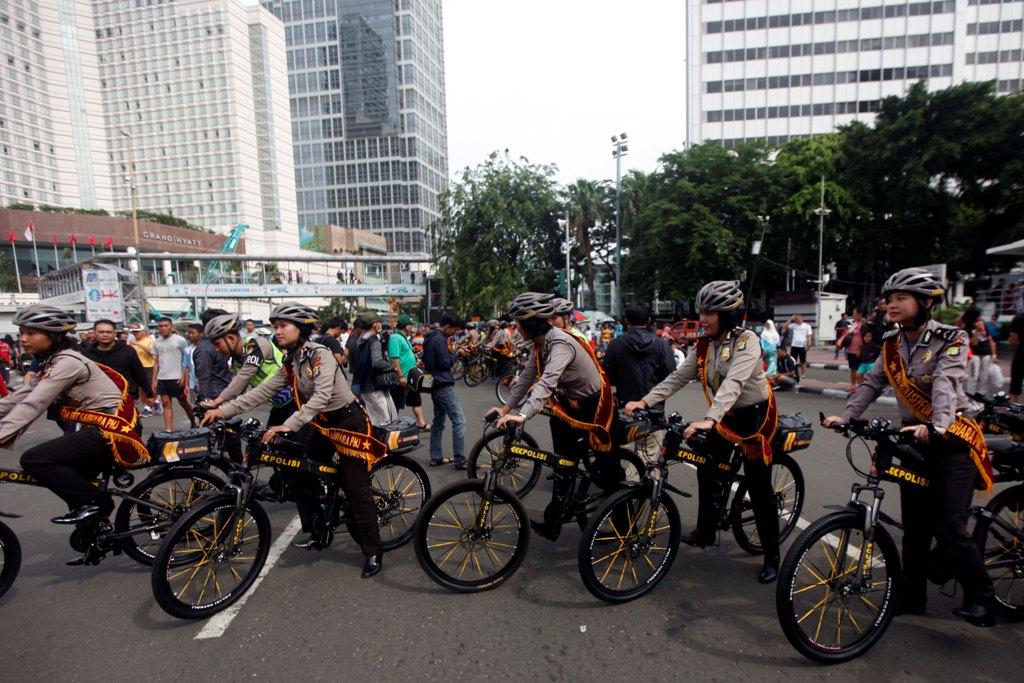 Kakorlantas Ajak <i> Bike to Work </i> Jelang Asian Games