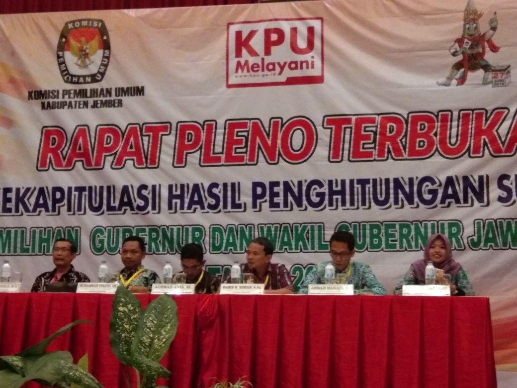 Saksi Gus Ipul-Puti Tolak Rekapitulasi KPU Jember