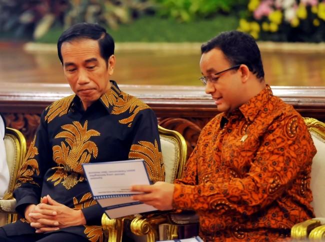 Jokowi Sambut Baik Wacana Pengusungan Anies di Pilpres 2019