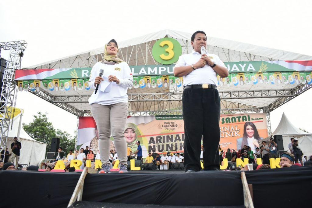 Arinal-Nunik Menang Pilgub Lampung