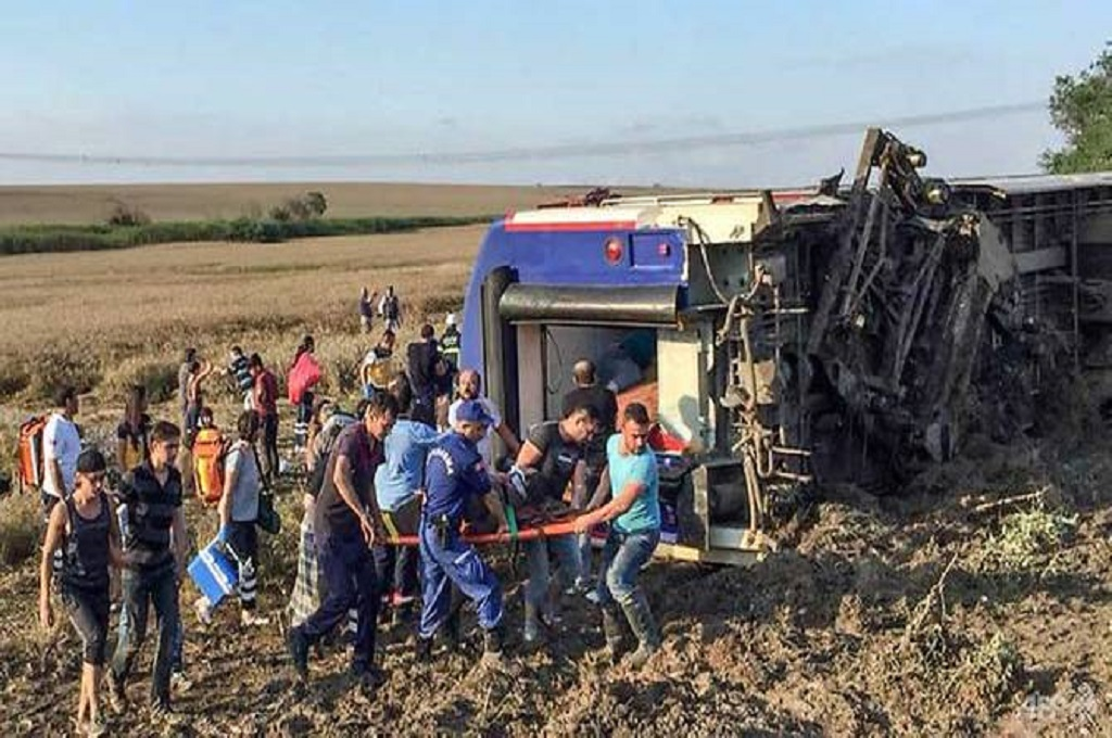 Kecelakaan Kereta di Turki Tewaskan 10 Orang