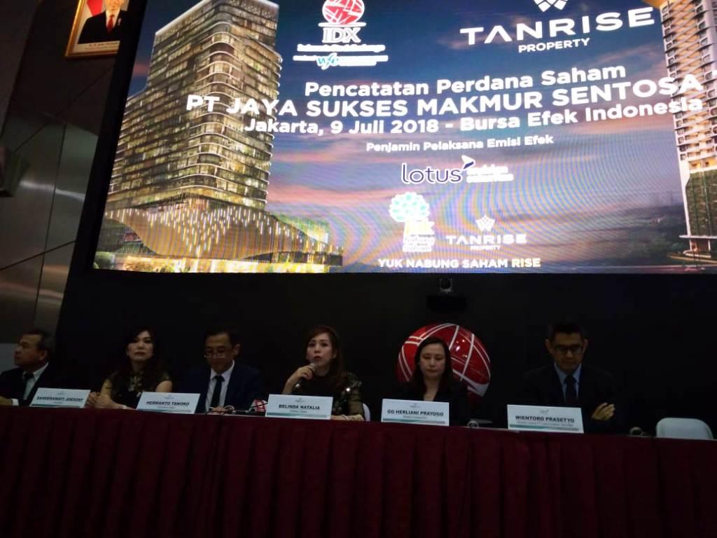 IPO, Saham Tanrise Property Melonjak 69%