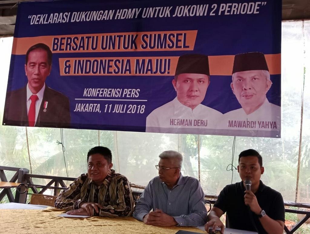 Herman-Mawardi Deklarasi Dukung Jokowi