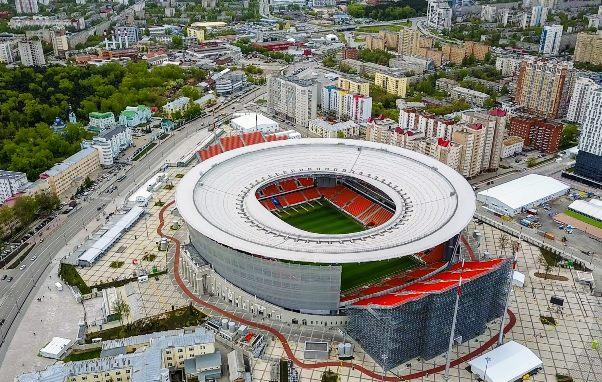 Tribun kontroversial Ekaterinburg Arena