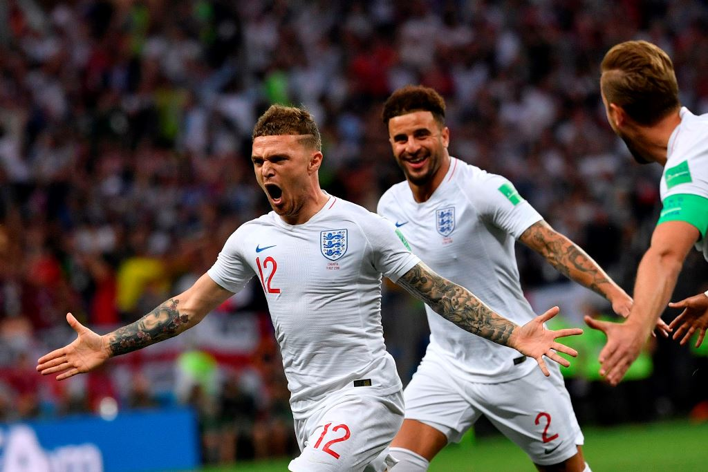 Gol Kieran Trippier Cetak Sejarah buat Inggris