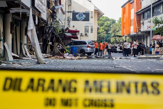 11 Ruko Rusak Akibat Ledakan di Grand Wijaya