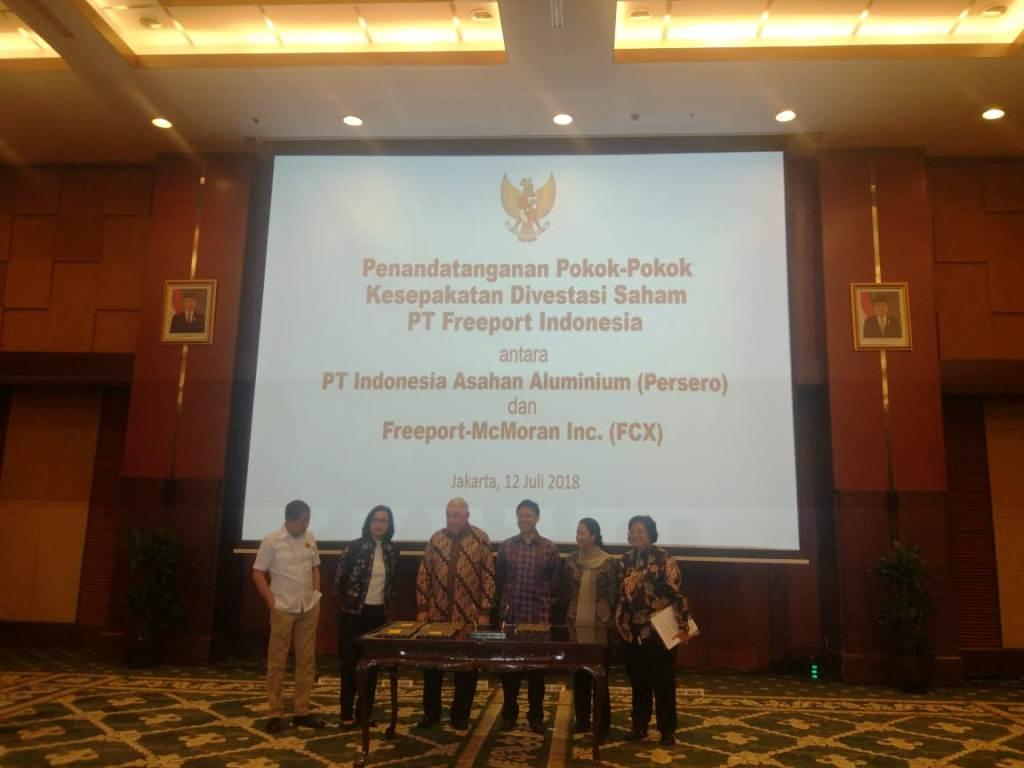 Inalum Resmi Beli Divestasi Saham Freeport Indonesia USD3,85 Miliar