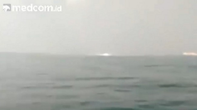 Pipa Gas Bocor Bawah Laut
