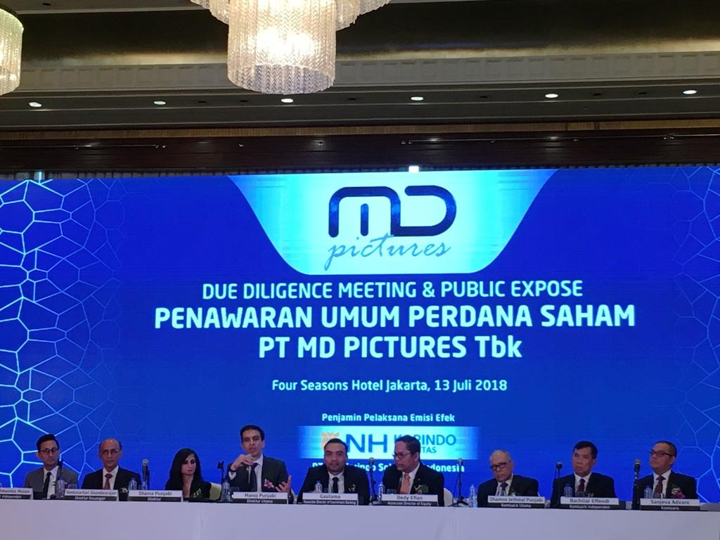 Garap Film, MD Pictures Alokasikan Dana hingga Rp120 Miliar