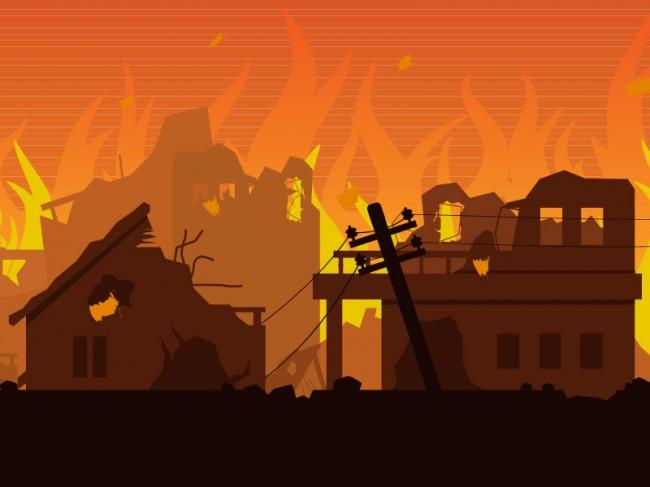 Bangunan 4 Lantai di Tanah Abang Terbakar