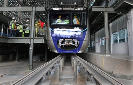 Gardu MRT Taman Sambas Mulai Dialiri Listrik