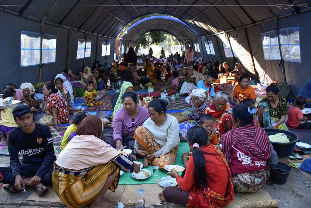 Pengungsi di Lombok Utara Kekurangan Air Bersih