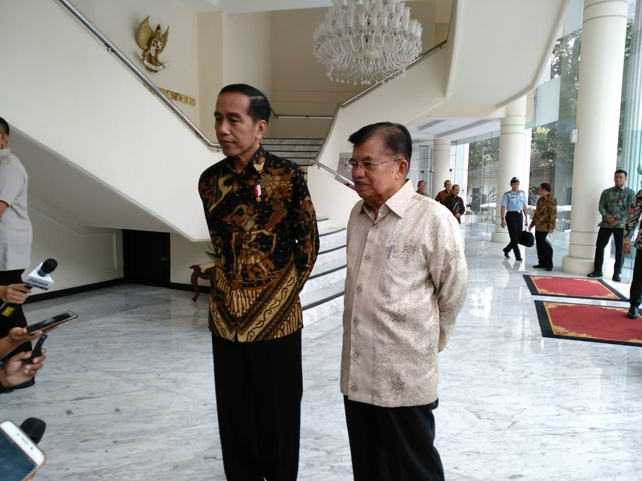 Jokowi Mampir ke Kantor JK