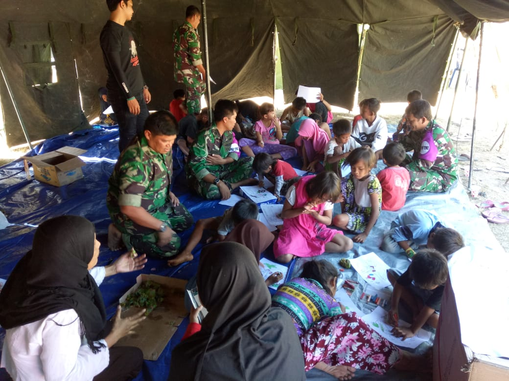 Sekolah Gembira Bagi Anak Korban Gempa Lombok
