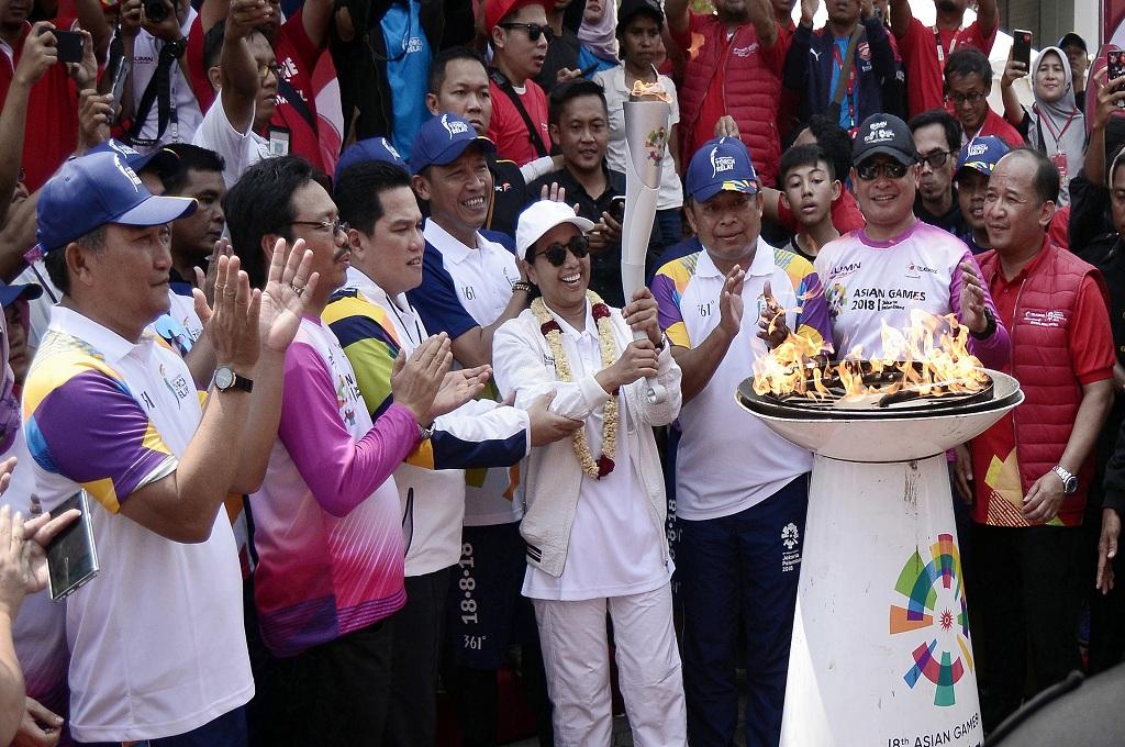 Ribuan Polisi Amankan Kirab Obor Asian Games di Bandung