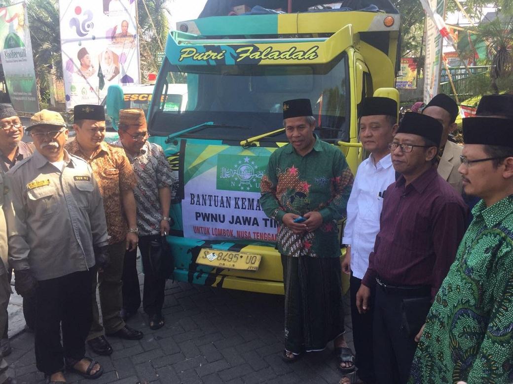 PWNU Jatim Kirim 30 Relawan Trauma Healing ke Lombok