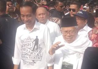 Jokowi Kenakan Baju Berpesan Khusus
