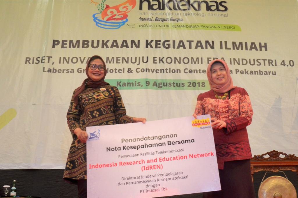 Indosat Ooredo Pasang Hybrid Learning IdREN untuk Universitas