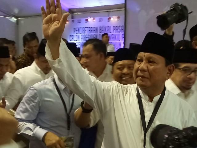 SBY tak Ikut Mengantar Prabowo-Sandi ke KPU