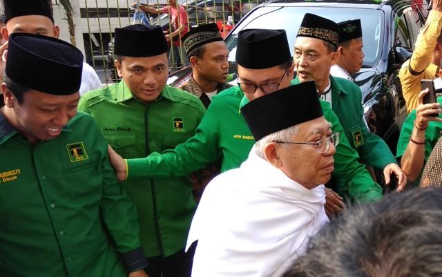 KH Ma'ruf Amin Temui Petinggi PPP