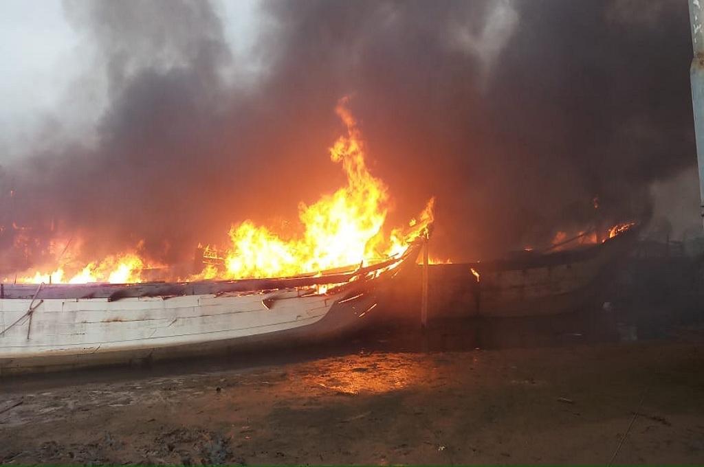 Sehari setelah Terbakar, Api Hanguskan 4 Kapal di Pati Padam