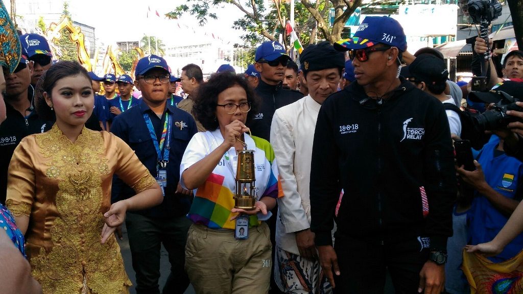 Api Obor Asian Games 2018 Tiba di Bandung