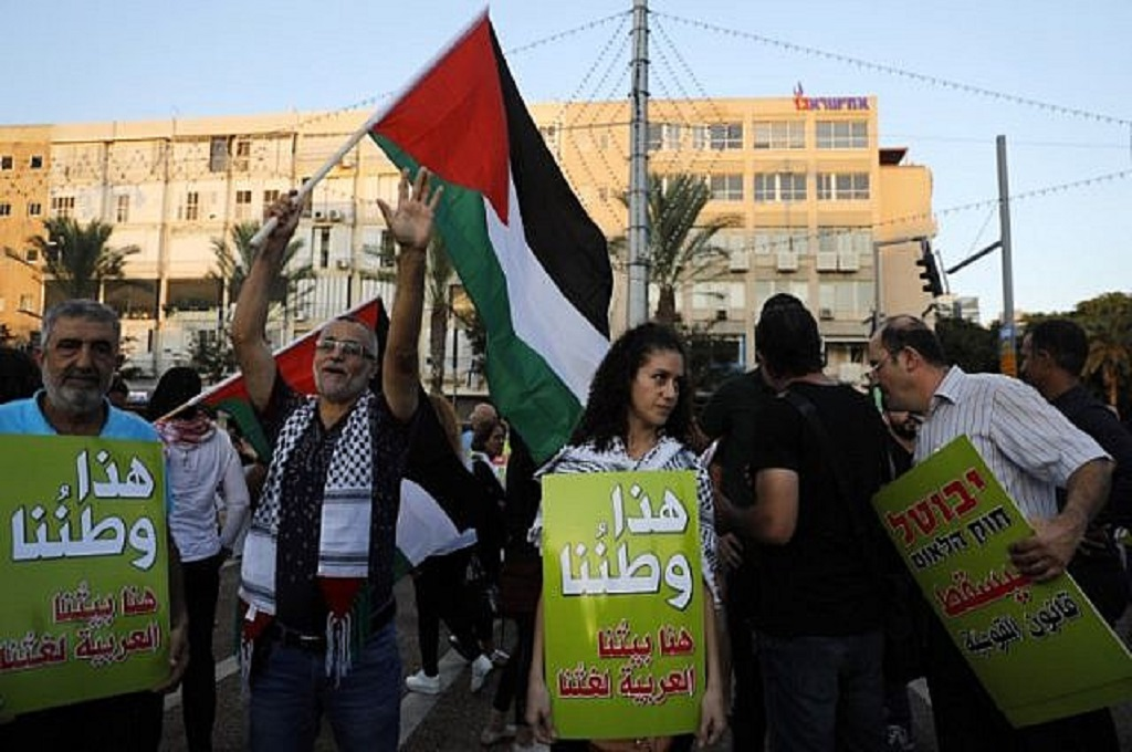 Ribuan Orang di Ibu Kota Israel Protes UU Negara Yahudi