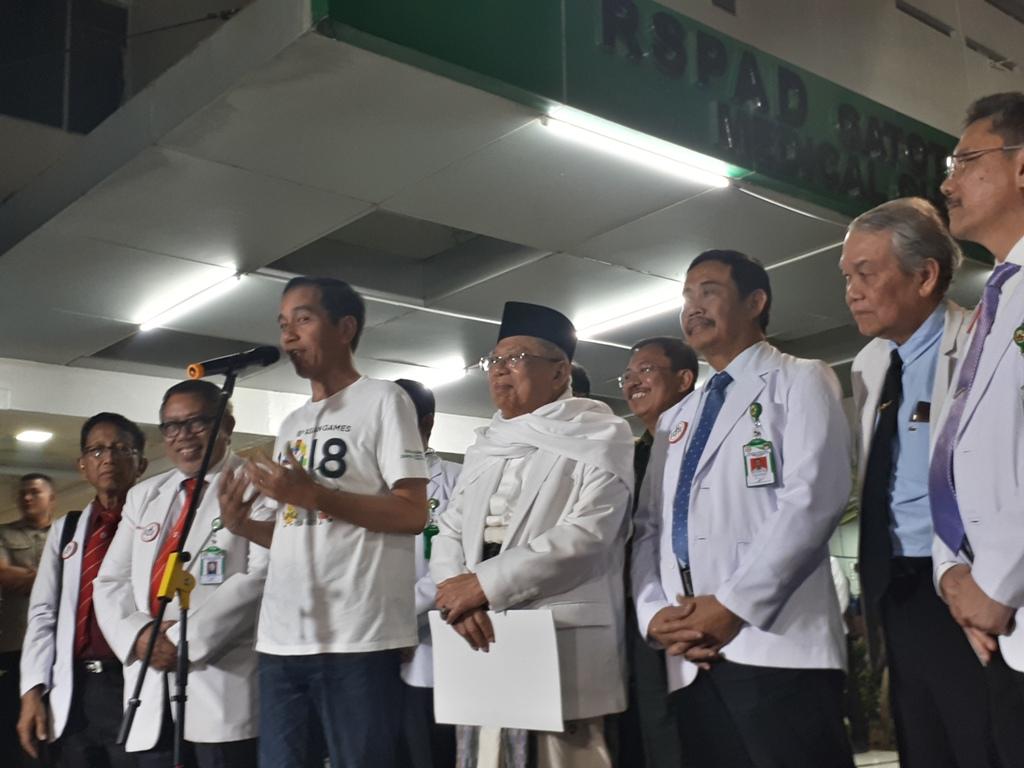 Jokowi-Ma'ruf Selesai Menjalani Tes Kesehatan