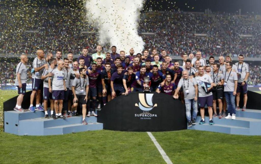 Tundukkan Sevilla, Barcelona Sabet Gelar Piala Super Spanyol 2018
