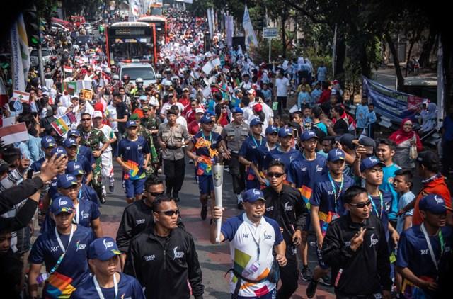 Rekayasa Lalu Lintas <i>Relay</i> Obor Asian Games Hari Kedua