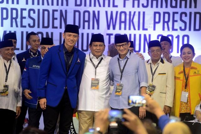 Saling Tuding Dua Kaki Parpol Koalisi Prabowo-Sandi