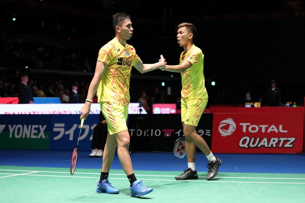 Fajar/Rian Mulus pada Babak Pertama Japan Open