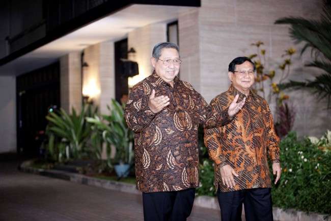SBY to Support Prabowo's Presidential Campaign