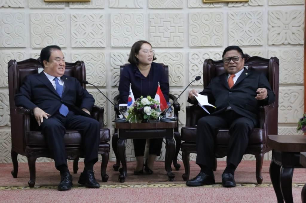 DPD Bahas Investasi Daerah Bersama Ketua Parlemen Korsel
