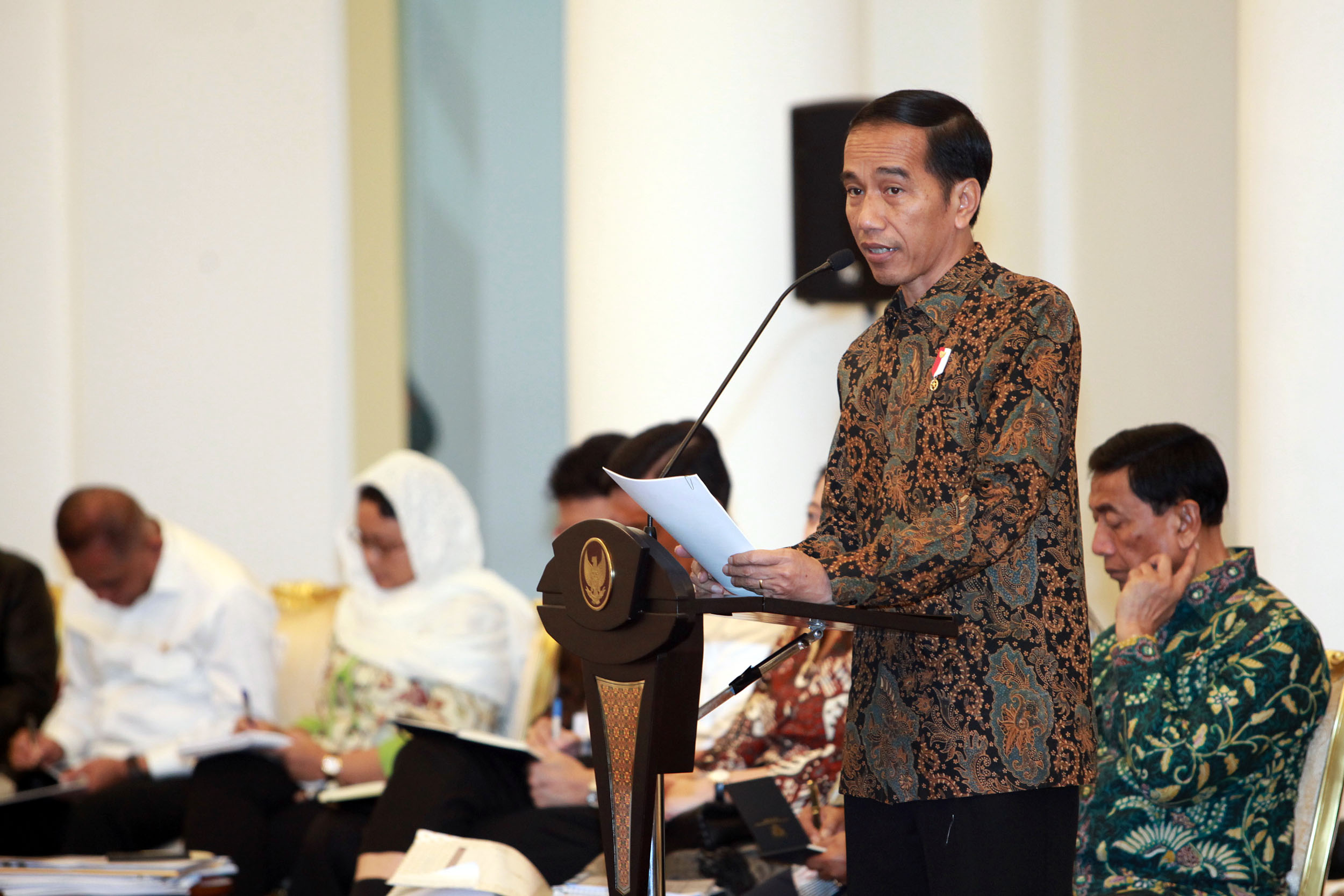 Jokowi Disambut Meriah Relawan Projo