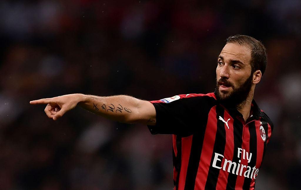 Gol Perdana Higuain Selamatkan Milan dari Kekalahan