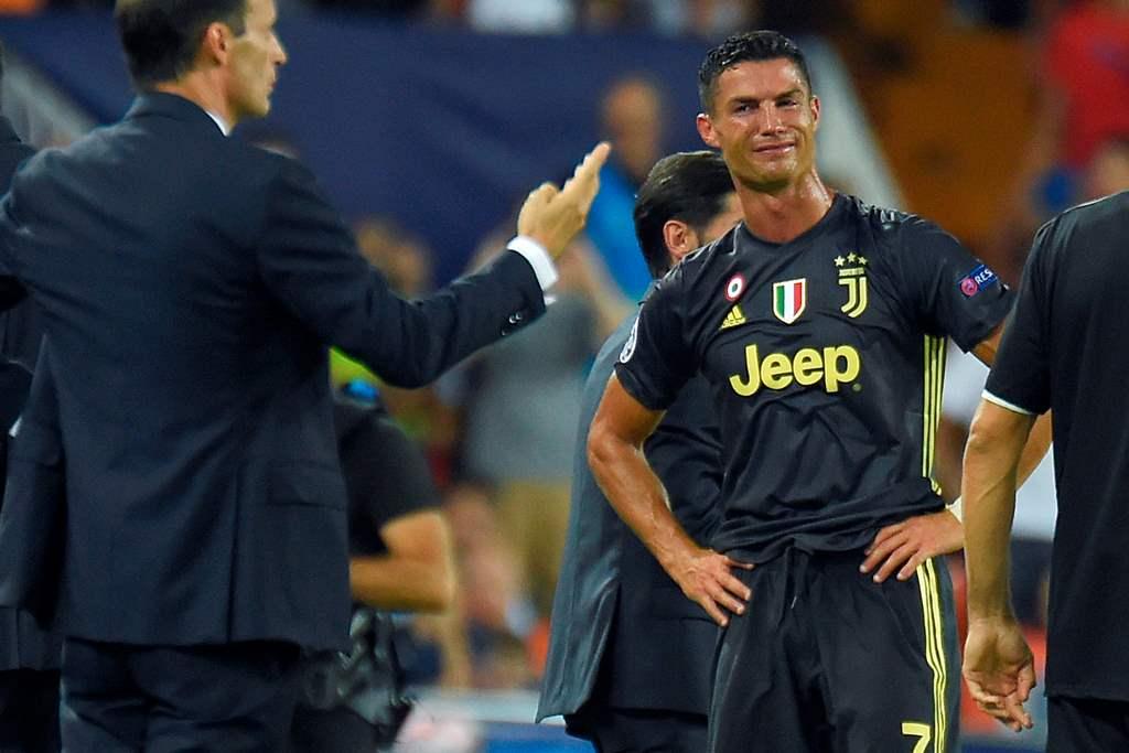 Potret Tangisan Ronaldo usai Diusir Wasit