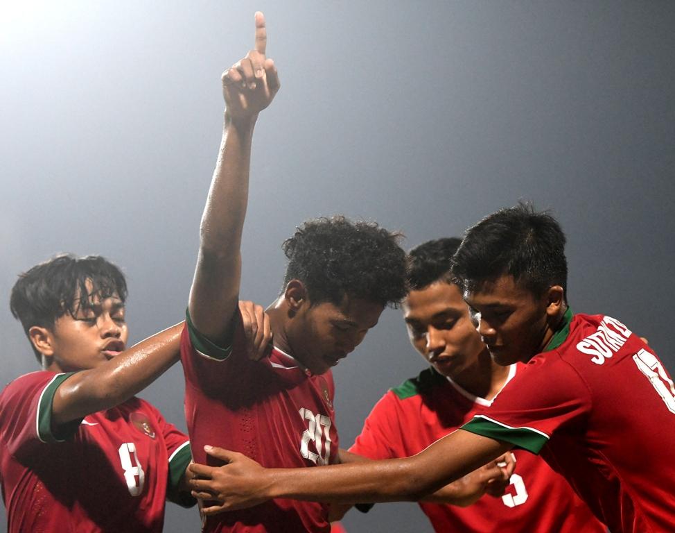 Timnas Indonesia U-16 Ungguli Iran di Babak Pertama