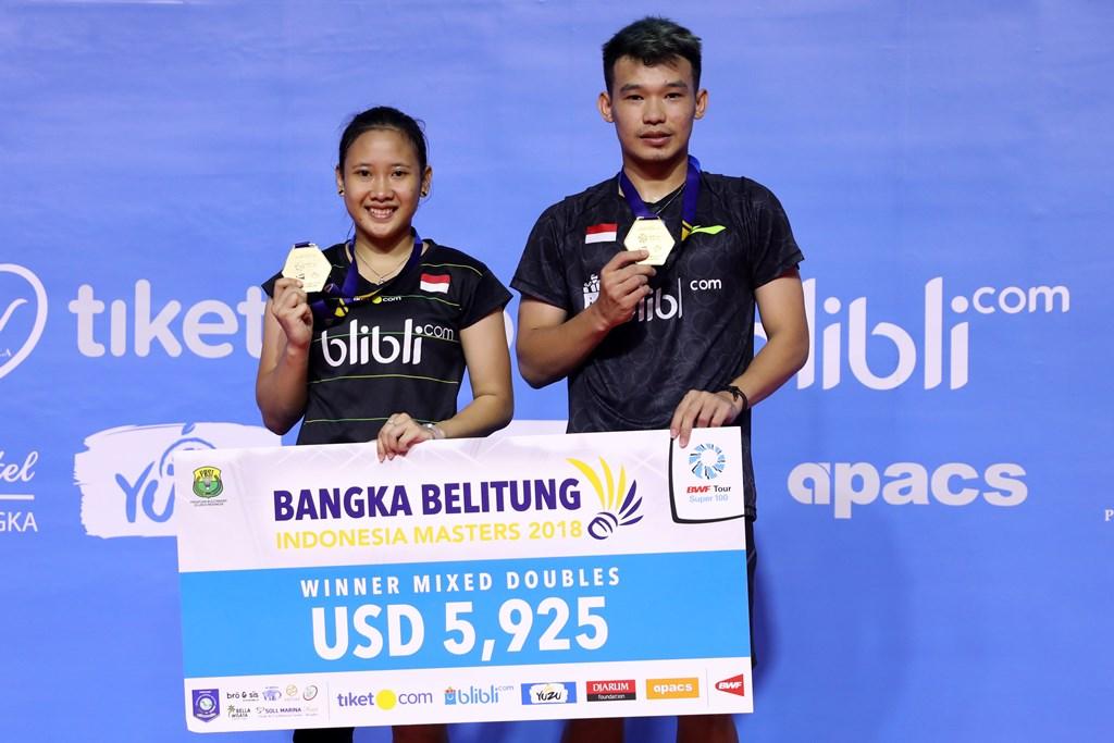 Rinov/Pitha Juara di Babel Indonesia Masters 2018