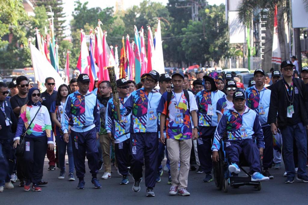 Obor Asian Para Games 2018 Tiba di Pangkalpinang