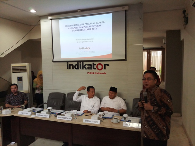 Survei: Elektabilitas Jokowi Mengungguli Prabowo