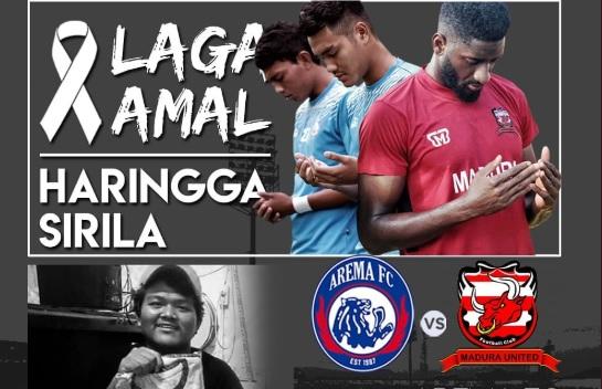 Laga Arema FC vs Madura United untuk Haringga Sirla