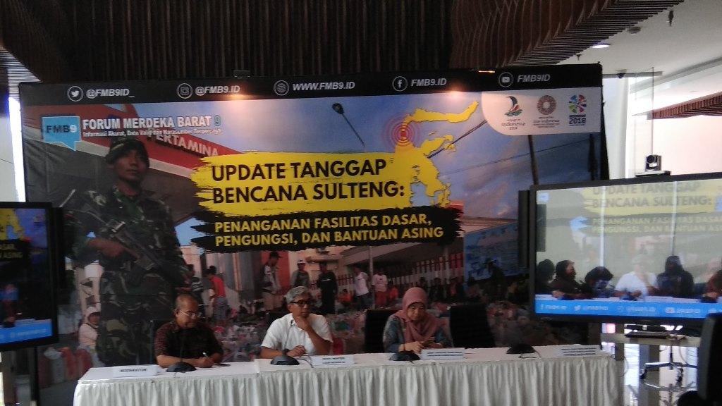 Bantuan Asing untuk Bencana Sulteng Mencapai Rp220 Miliar