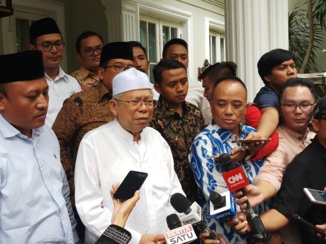 Ma'ruf Ogah Gunakan Insiden Ratna Gaet Pendukung Prabowo-Sandi