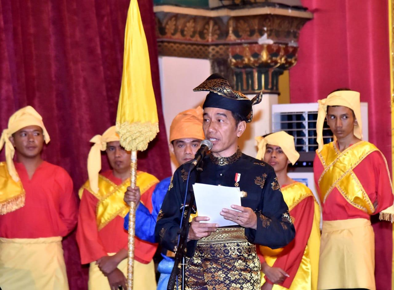Jokowi Ajak Masyarakat Melayu Kawal Persatuan Bangsa