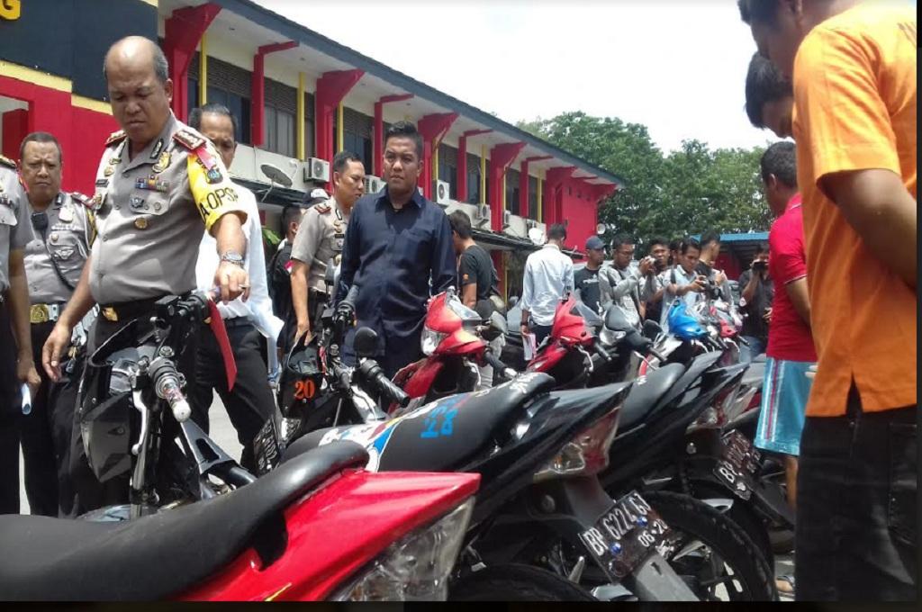 12 Pencuri Sepeda Motor Dibekuk