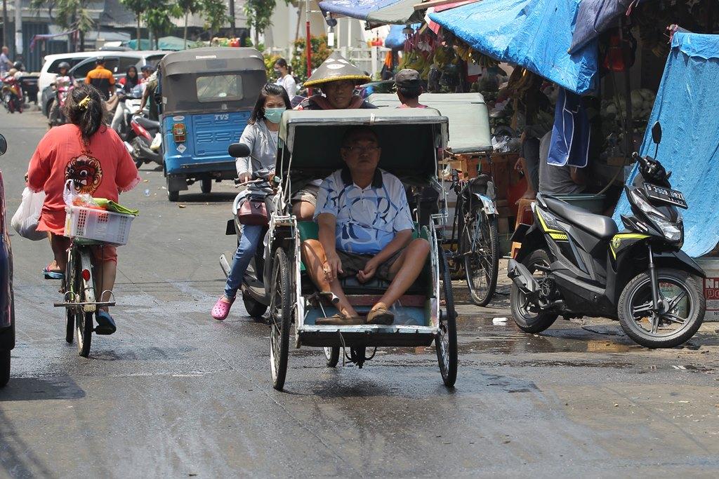 Becak tak Sesuai Kebutuhan Transportasi Ibu Kota